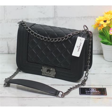 Tas Ransel Mini Chanel tas wanita fashion tas batam tas import chanel boy mini uk