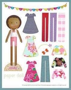 American Doll Paper Crafts - free paper doll clothes for our sponsored child