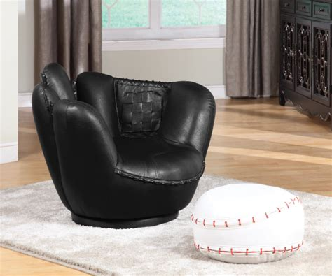 baseball chair and ottoman all star swivel baseball pu chair and ottoman set