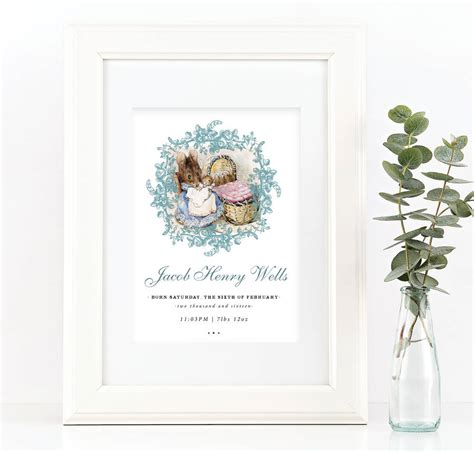 printable gift vouchers high street personalised beatrix potter print christmas gift by
