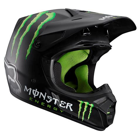 monster motocross helmet fox racing v3 rc ricky carmichael monster energy helmet