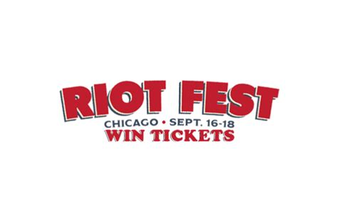 Riot Giveaway - sold out ticket giveaway riot fest and carnival chicago 3 day pass featuring brand