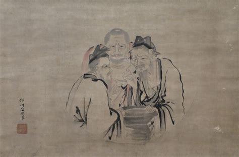 The Three file the three vinegar tasters by kano isen in c 1802 1816 honolulu museum of 6156 1