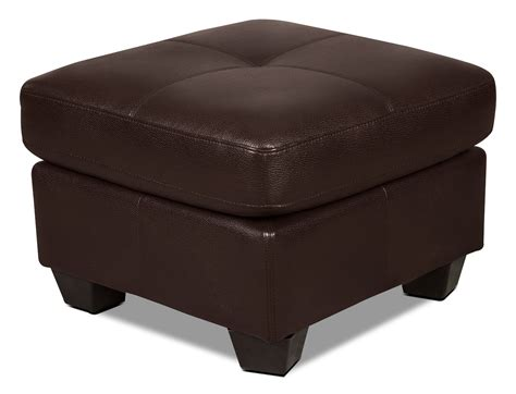leather look ottoman costa leather look fabric ottoman brown united