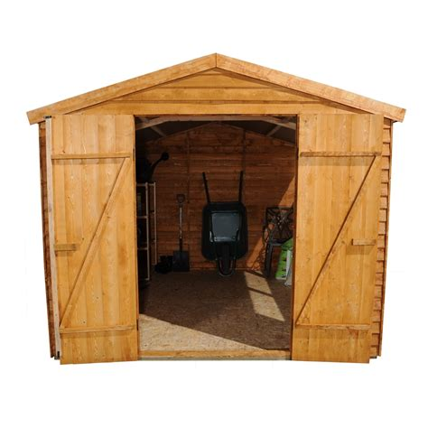 10 X 8 Wooden Shed by 10 X 8 Overlap Apex Wooden Garden Shed Doors 4