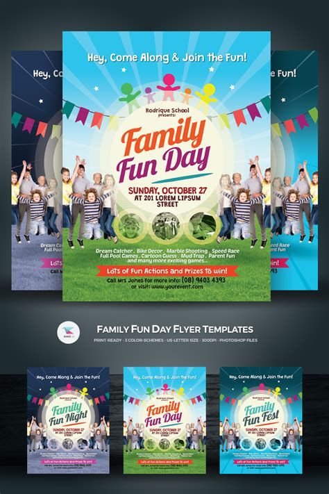 family fun day flyer corporate identity template