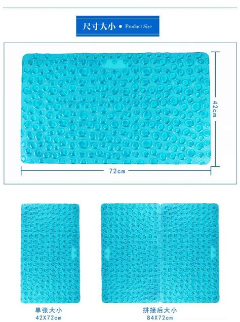 Eco Friendly Bath Mat 42x72cm Cobblestone Bath Mat Eco Friendly Pvc Foot Bathroom Rug Doormat Bathtub Bathroom
