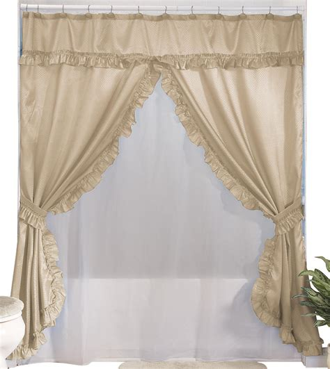 Curtains With Valance Walterdrake Swag Shower Curtains With Valance Ebay
