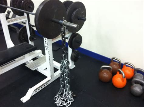 bench with chains overspeed eccentrics crossfit empirical