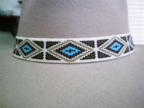 beaded bands american style beaded hat band peyote beaded