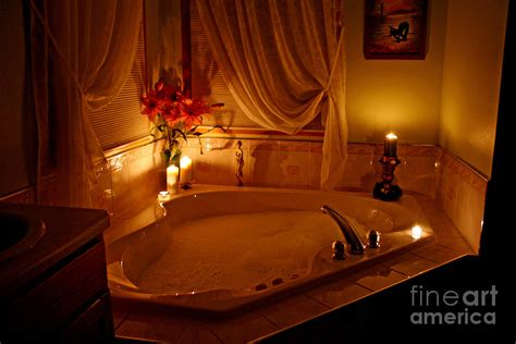 Moroccan Print Curtains Romantic Bubble Bath Photograph By Kay Novy