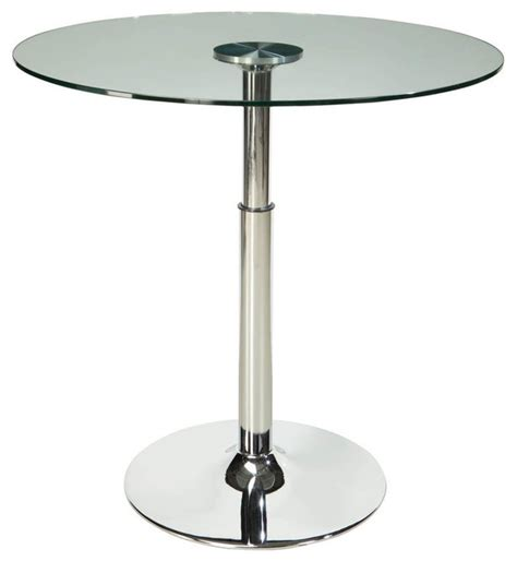 Glass Dining Table Base Pedestal Standard Furniture Cosmo Glass Top Dining Table With Fixed Pedestal Base Traditional