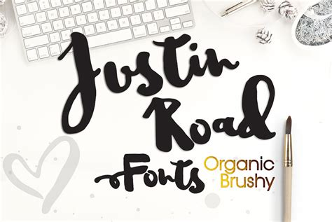pattern typography download justin road font free design resources
