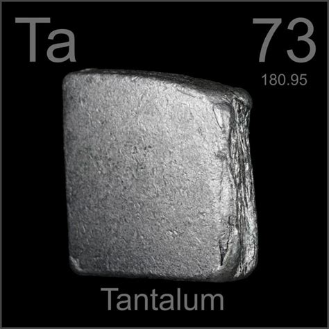 slab a sle of the element tantalum in the periodic table