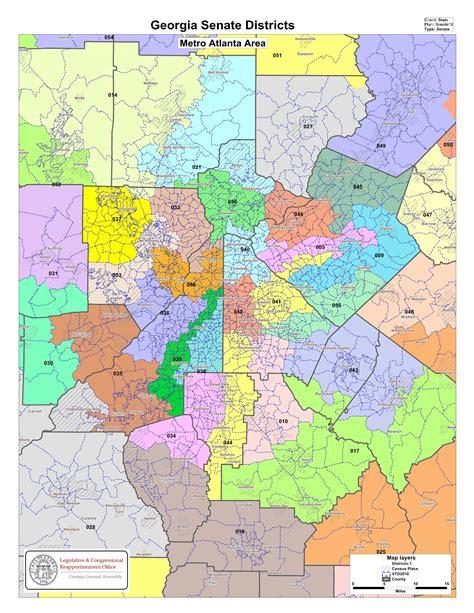 georgia state house districts maps georgia senate districts metro atlanta general