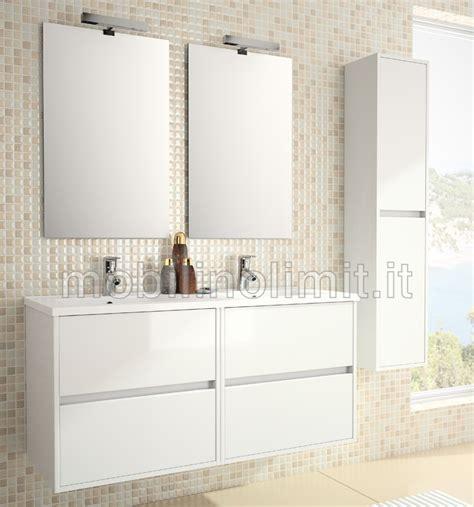 mobili bagno doppio lavabo moderni mobile bagno moderno doppio lavabo l 120 bianco