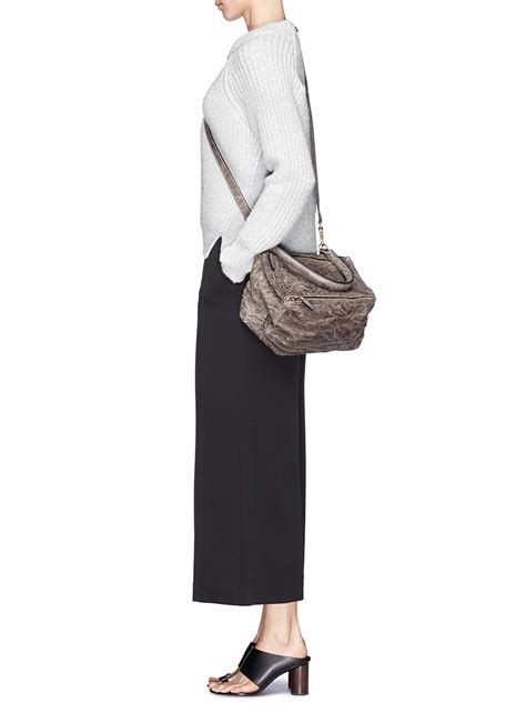 Givenchy Small Pandora givenchy pandora small crinkle leather bag in gray lyst