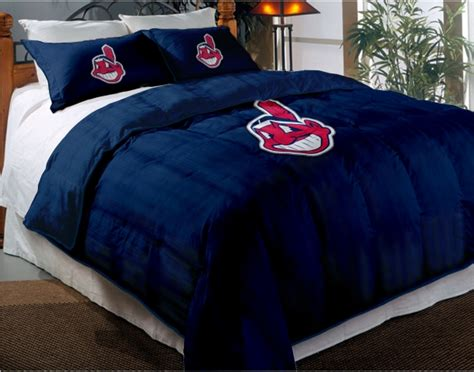 Cleveland Indians Mlb Twin Chenille Embroidered Comforter