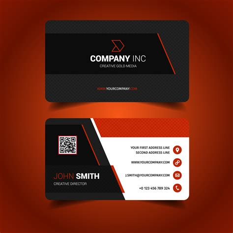id card design red red business card pod