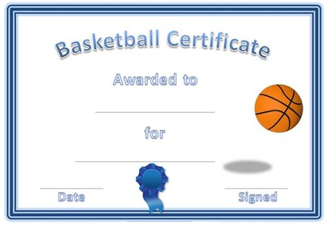 Basketball Player Card Template by Free Basketball Certificates Templates Activity Shelter