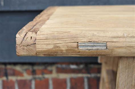 rustic reclaimed elm coffee table  rail stretcher base