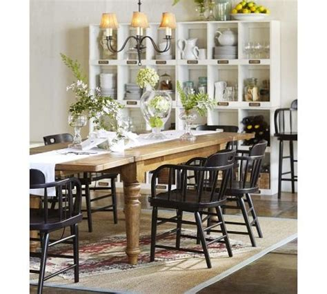Ikea Rustic Dining Table Rustic Dining Table W Black Chairs From Pb Dining Rooms Rustic Dining Tables