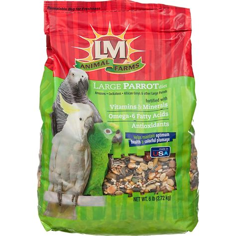 lm animal farms large parrot diet bird food petco