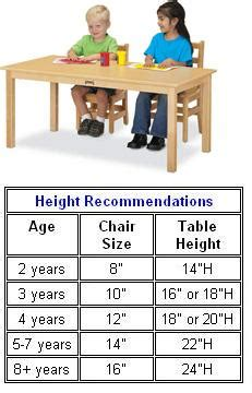 preschool table and chair height all kydz activity table by jonti craft options preschool