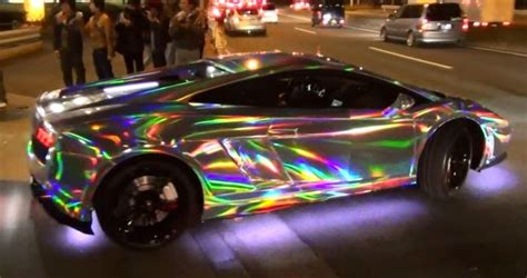 holographic car japan s led lamborghini mob damn cool pictures