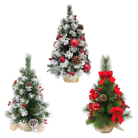Mini Decorated Trees by Decorated Artificial Mini Tree 60cm 3 Styles