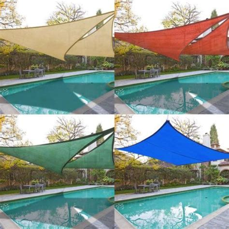 2x sun shade sail top outdoor canopy patio cover 11 5 16