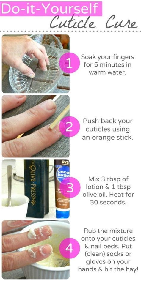 how to take care of the hair cuticle cuticle care nails pinterest