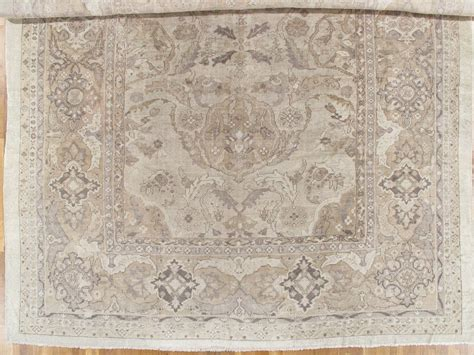 neutral rug antique sultanabad carpet handmade rug neutral tn wool carpet for sale at 1stdibs