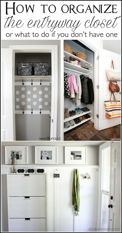 Organize Entryway Closet by Lots Of Tips To Help You Organize The Entryway Closet In