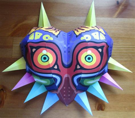 size majoras mask papercraft 4 by minidelirium on