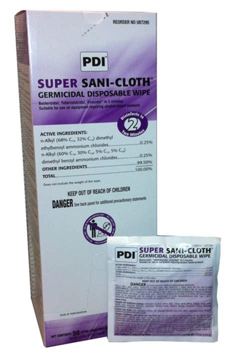 Sani Pad Caribbean Detox by Pdi Sani Cloth 174 Germicidal Disposable Wipe