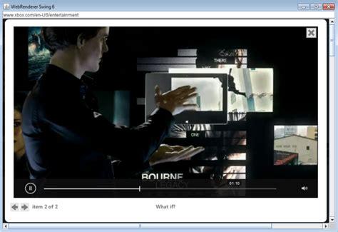 swing to html5 webrenderer swing now supporting html5 video 171 webrenderer