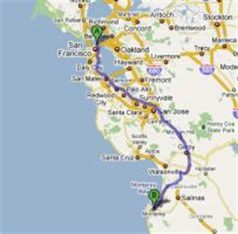 Map Of Pch From La To San Francisco - san francisco to los angeles one day tour along the pacific coast highway