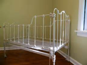 antique white iron baby crib by haydenparkerhome on etsy