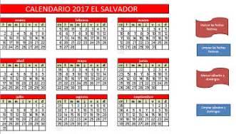 Calendario 2018 El Salvador Calendario 2017 El Salvador 171 Excel Avanzado