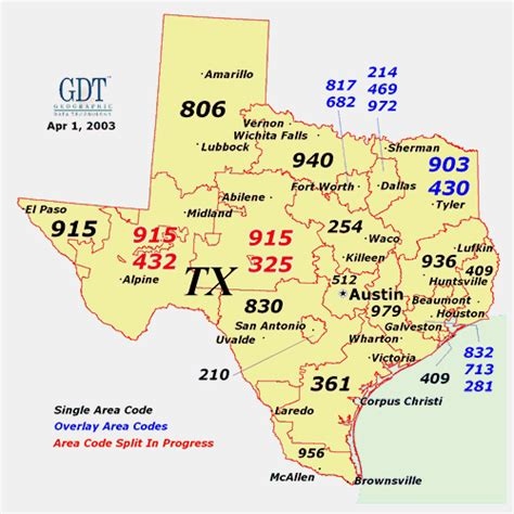 map of texas area codes reliant communications various content