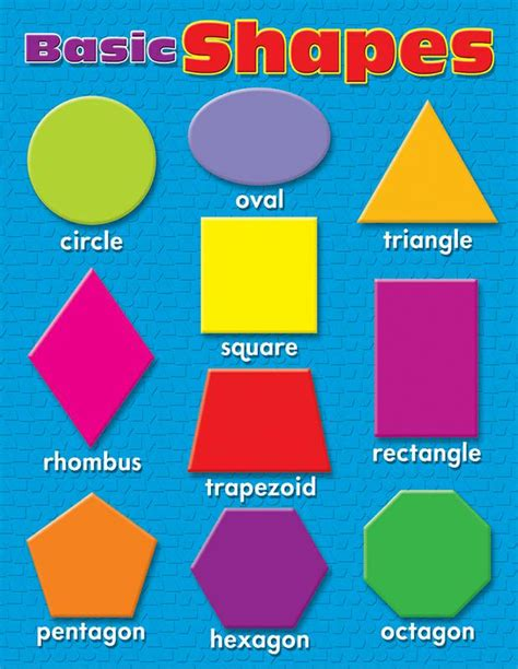 printable learning shapes learning charts basic shapes t 38207