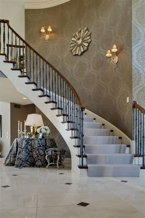 staircase decor wallpaper sconces wall decor