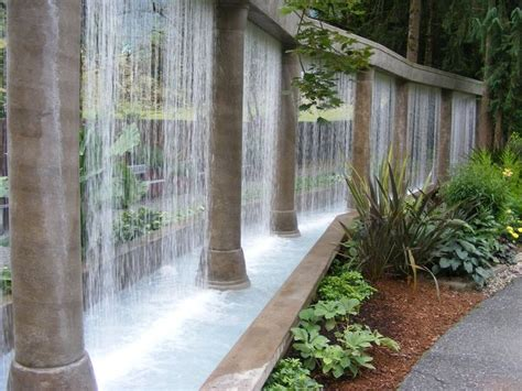water curtain fountain water curtain design ideas for interior and exterior