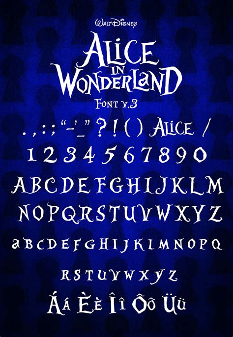 alice in wonderland dafont com