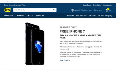 iphone deals att iphone 7 buy one get one free bogo 2017 offer from at t at best buy in store only 1reddrop