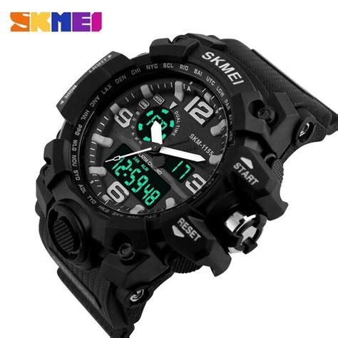 Termurah Jam Tangan Pria Skmei Casual Leather Jam skmei jam tangan analog digital pria ad1155 black white jakartanotebook