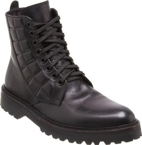 belstaff boots mens belstaff quilted combat boot in black for lyst