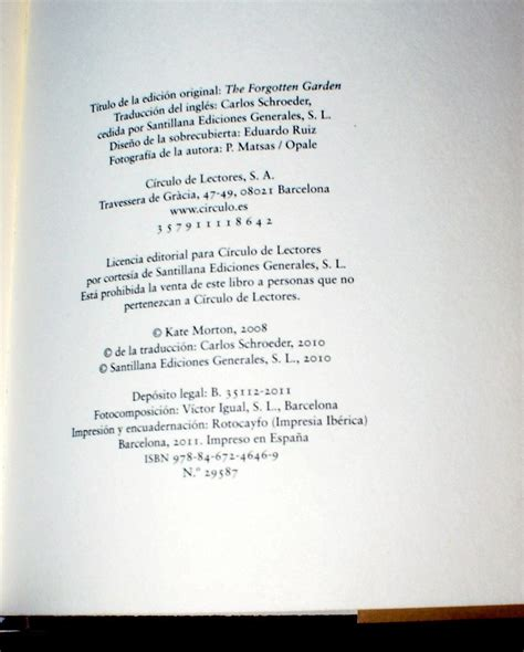libro el jardn olvidado spanish libro el jardin olvidado the forgotten garden kate morton 290 00 en mercado libre