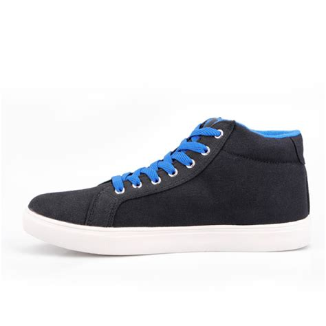 buy mens sole shoes high top black blue sneakers